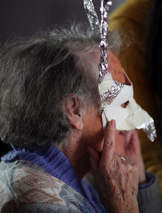 Roisin in mask making workshop